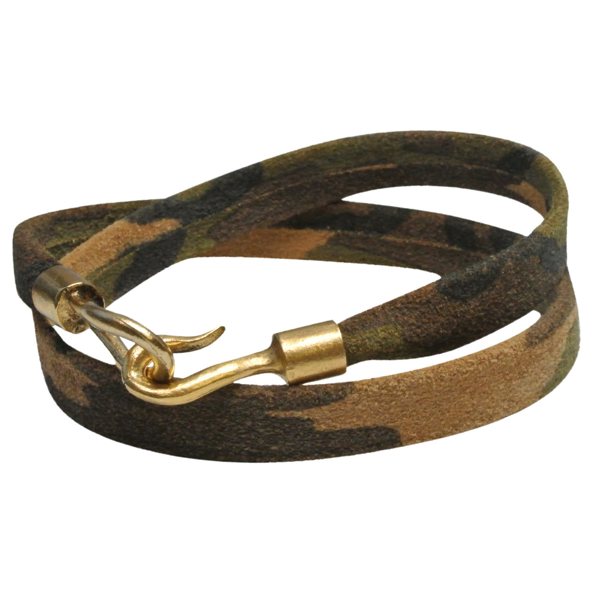 Men's Camo Leather Wrap Bracelet