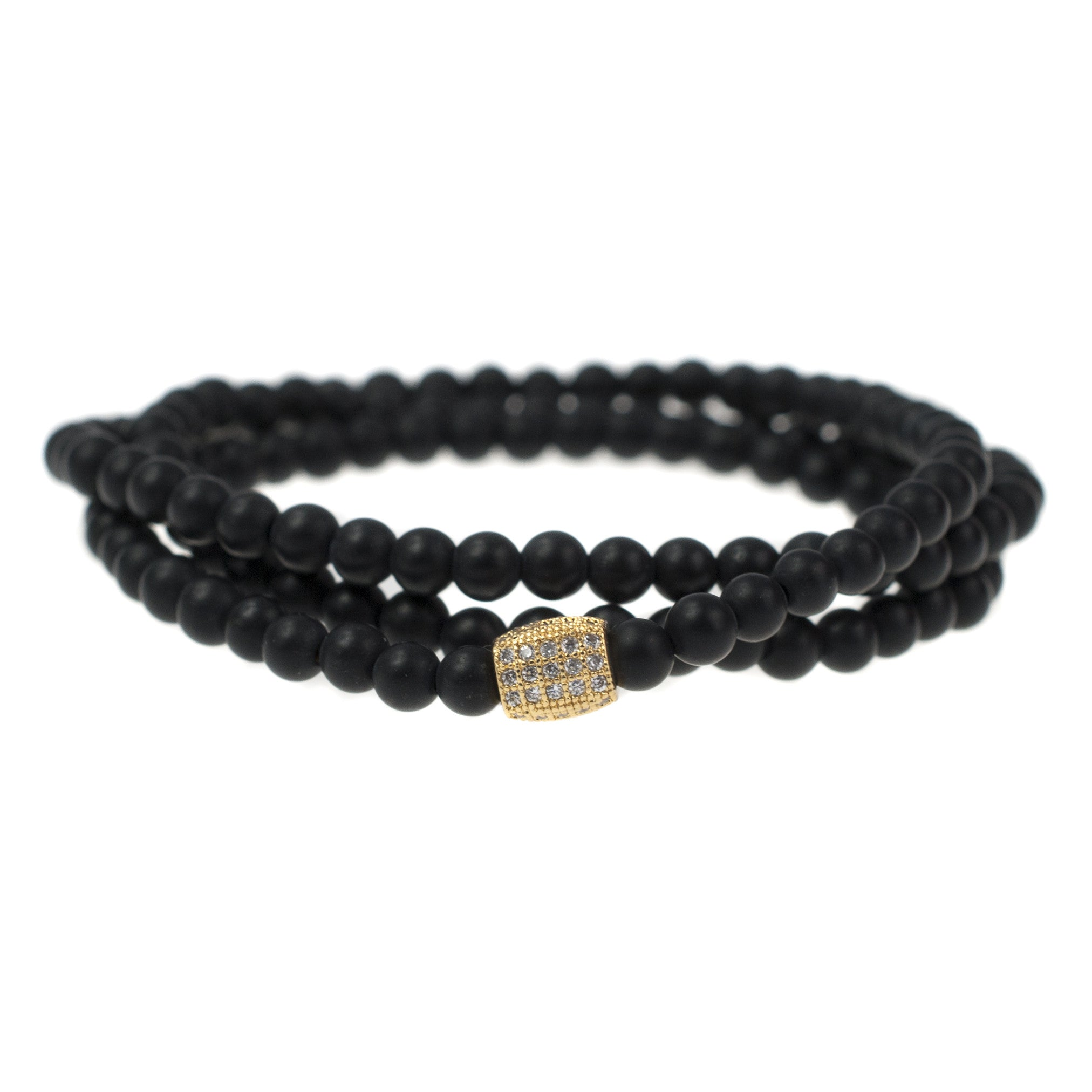 spiritual beaded matte d s collection bracelet product london page ommo black mens onyx power