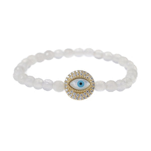 Evil Eye Talisman In White