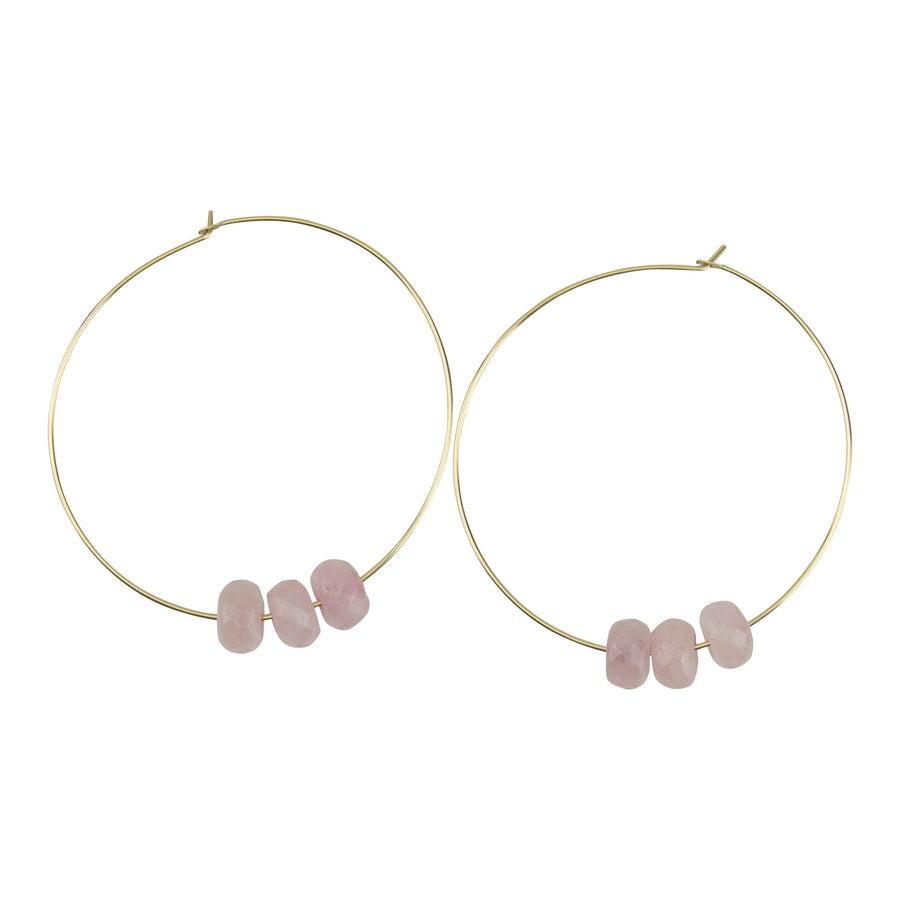 Rose Quartz Hoopla Earring