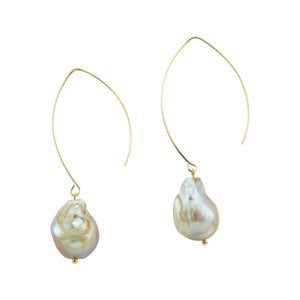 Baroque Pearl Hoopla Drop Earring