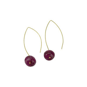 Pink Moonstone Hoopla Drop Earring
