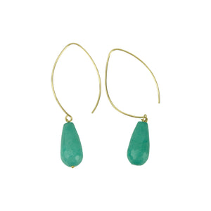 Blue Agate Hoopla Drop Earring