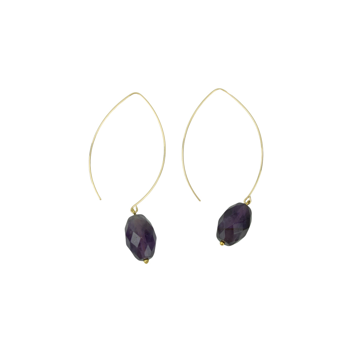 Oval Amethyst Hoopla Drop Earring