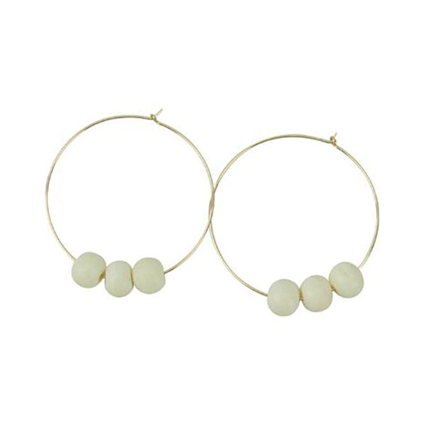 White Bone Hoopla Earring