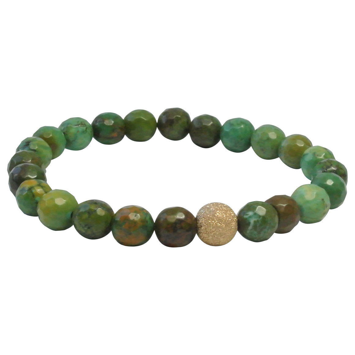 Faceted Green Turquoise