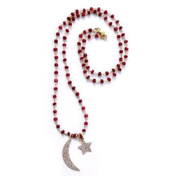 Greenwich Village Garnet with Silver Moon and Star