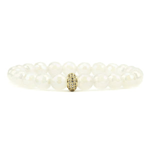 Quarantine Queen White Bracelet