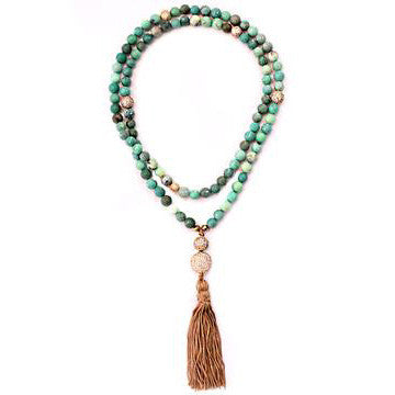 The Marrakesh Necklace in Green Agate