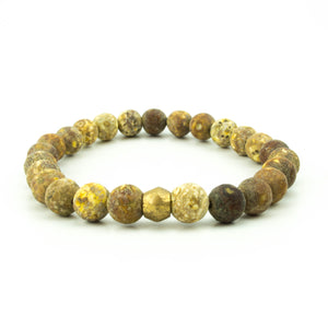 men's stretch beaded bracelet matte jasper