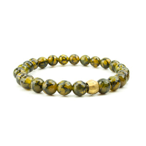 Men's Dragon's Vein Agate Bracelet