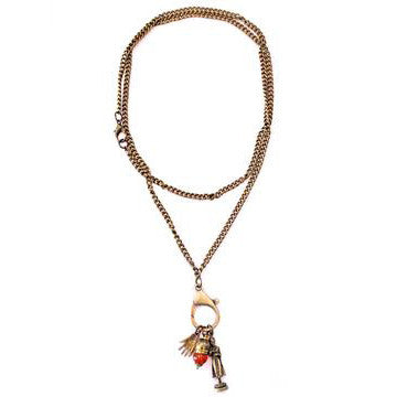 The Mission Hill Necklace in Brass Charm