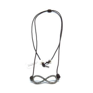 The Ibiza Necklace in Gunmetal Infinity