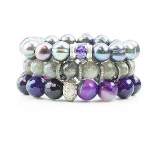 Purple Sky Pavé Stack