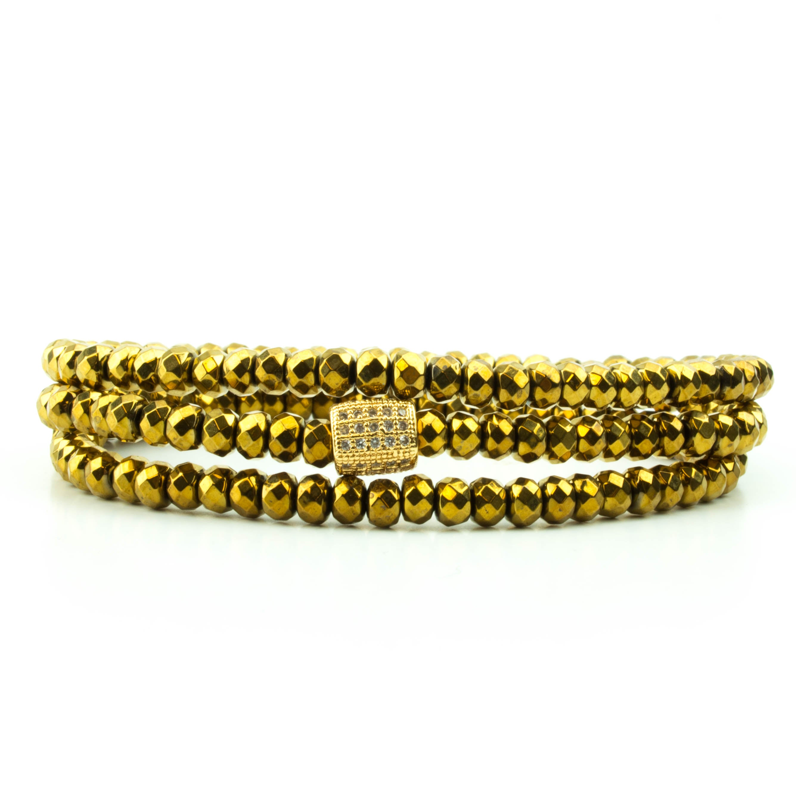 bracel in schwartz met gold liza sobe triple bracelet the bar wrap metallic