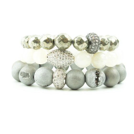 Fly Me To The Moon Pavé Stack