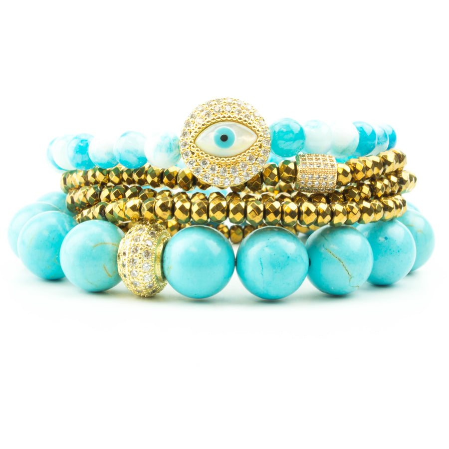 The Bluest Eye Pavé Stack