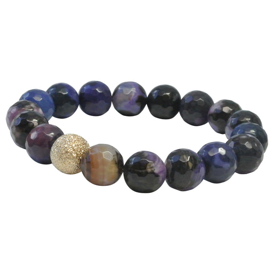 Purple Faceted Agate
