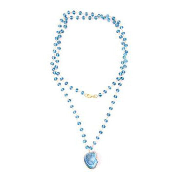 The Sienna Necklace in Blue Quartz