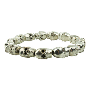 Men's Silver Brass Skull