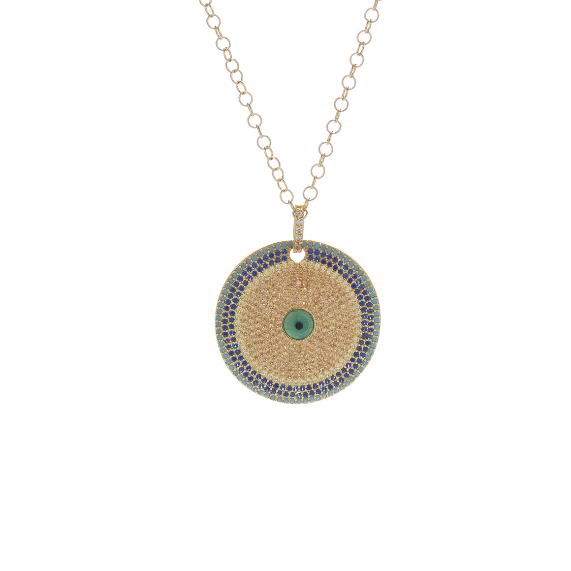 The Circle Medallion Necklace in Gold