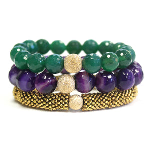 Purple & Jade Stack