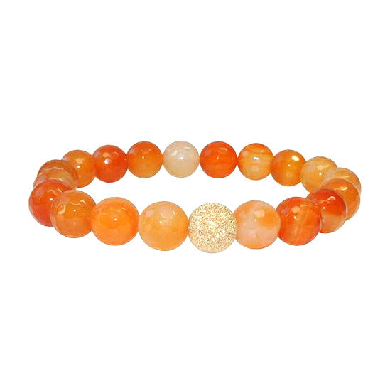 The Isabelle Bracelet in Carnelian