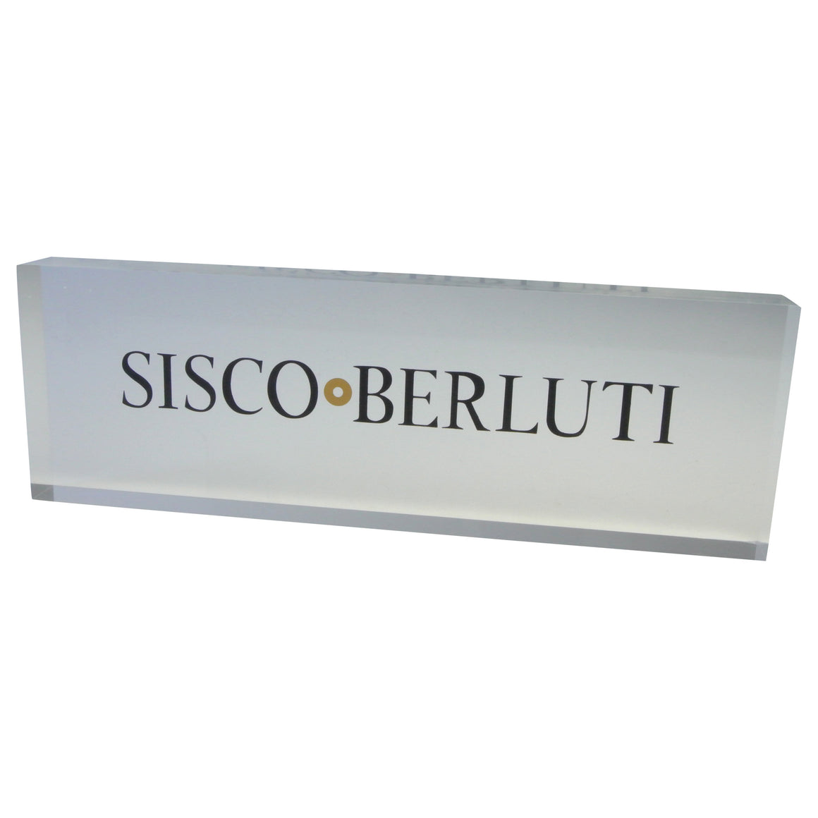 Sisco + Berluti Logo Lucite Display
