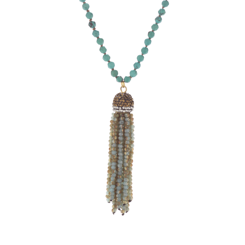 Turquoise Tassel Necklace