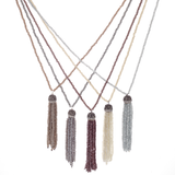 Cherry Quartz Tassel Necklace