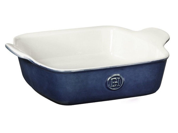 "Emile Henry Square Baking Dish -  8""X 8"" - in Blue"