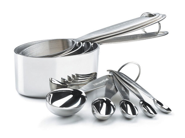 Cuisipro Stainless Steel 9 pc. Measuring Cup & Spoon Set