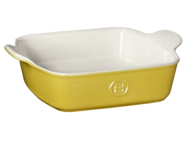 "Emile Henry Square Baking Dish -  8""X 8"" - in Yellow"