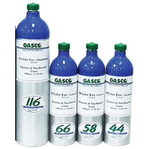 Standard 4-Gas Calibration Mixture (50ppm CO/ 50% LEL/ 10ppm H2S/ 18% O2) FarrWest Environmental, , GasCo, Calibration Gas