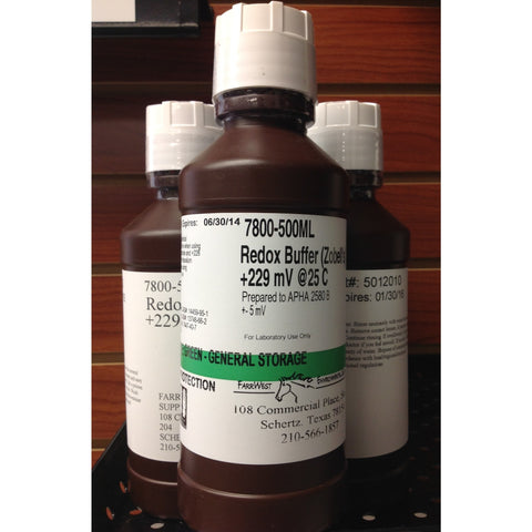 Zobell's ORP/Redox Buffer Solution FarrWest Environmental, 500mL, AquaSolutions, Calibration Solutions