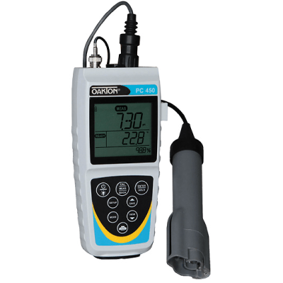 Oakton pH/CON 450 Meter FarrWest Environmental, None (Meter Only) / With NIST Certificate / Without Kit, Oakton, Multi-Parameter Meter