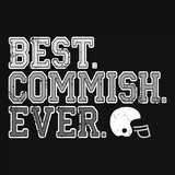 Best Commish Ever Fantasy Football Commissioner Gift T-Shirt