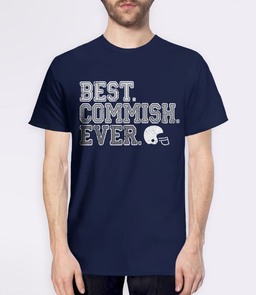 Best Commish Ever, Navy Mens (Unisex) Tee by BootsTees