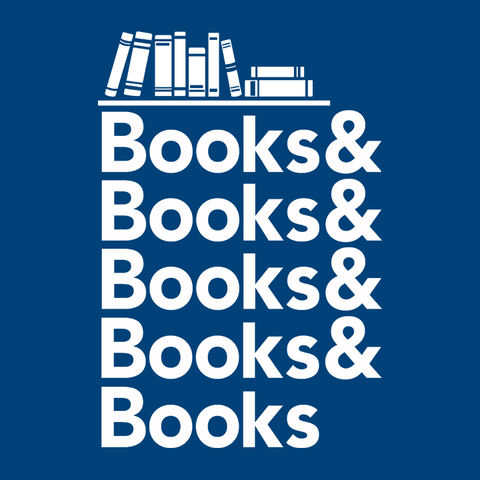 Books & Books, Royal Blue Mens (Unisex) Tee by BootsTees