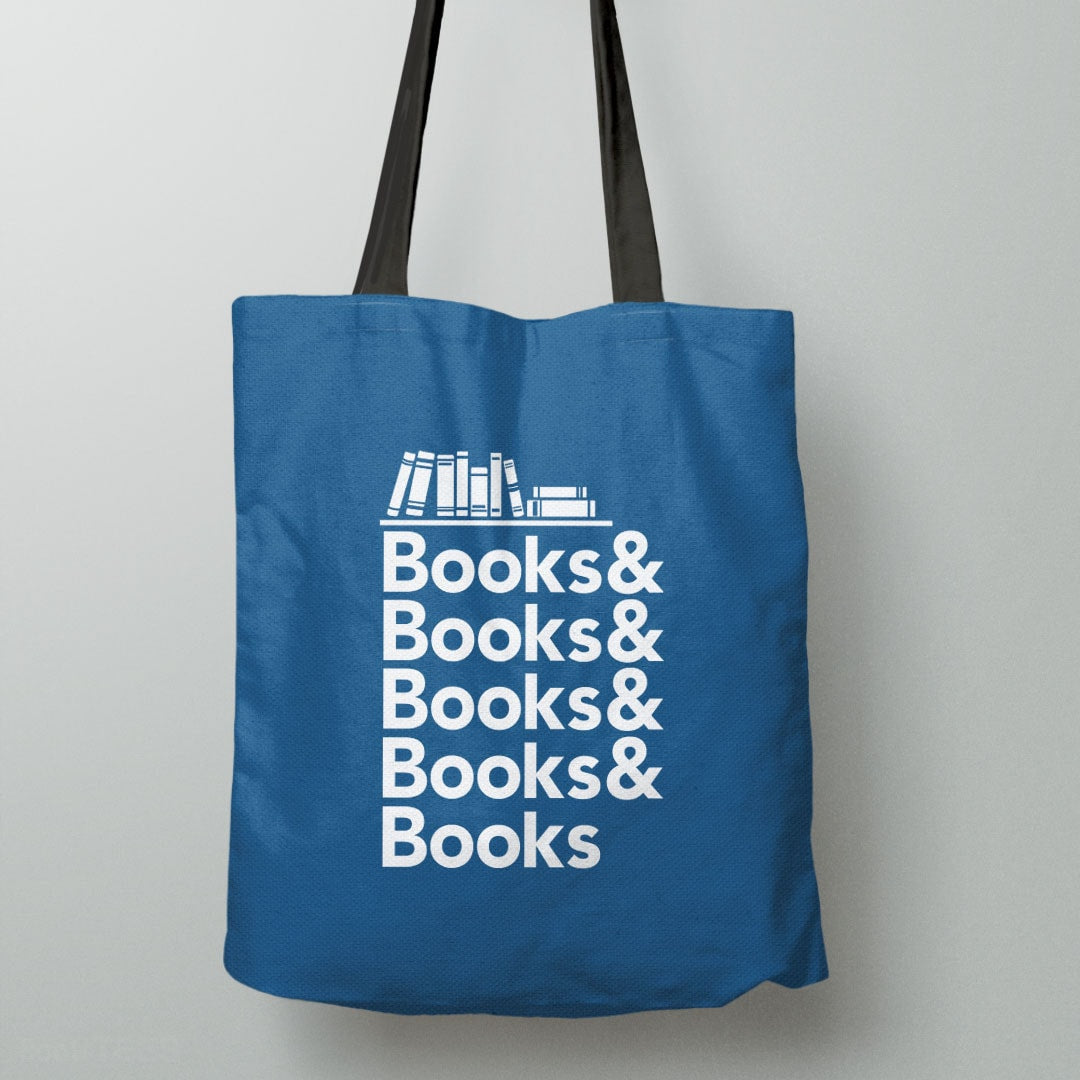 Books & Books, Tote Bag by BootsTees