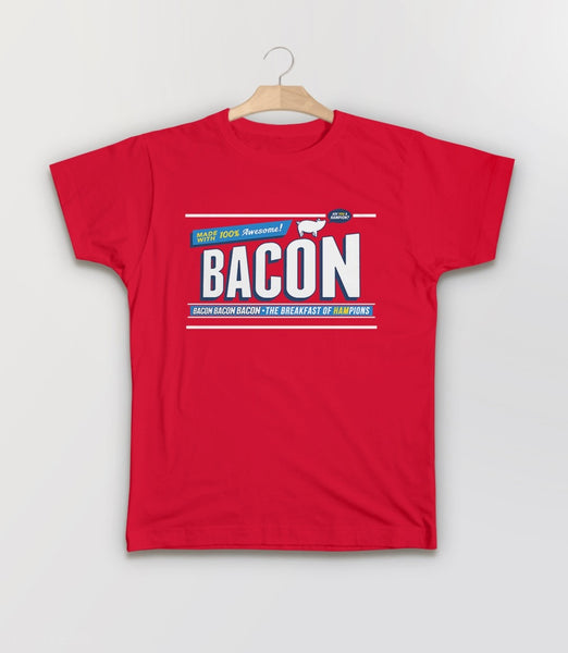Breakfast of Hampions | funny gift for bacon lover t-shirt - kids