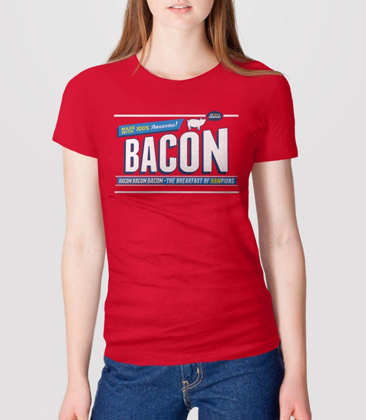 Breakfast of Hampions | funny gift for bacon lover t-shirt - womens