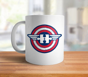 Captain Autism Awareness Mug | superhero coffee mug