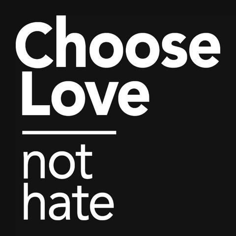Choose Love Not Hate t-shirt