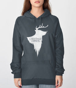 Christmas is Coming, Charcoal Unisex Hoodie by BootsTees