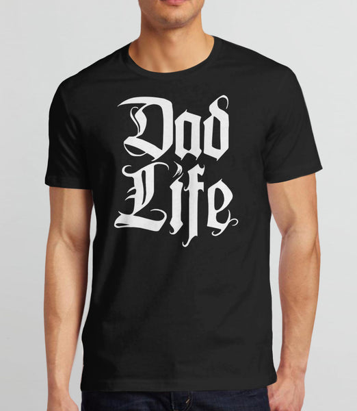 Dad Life T-Shirt - black mens tee
