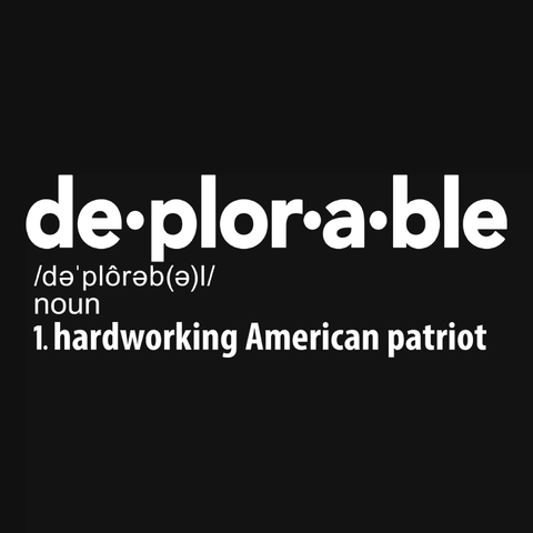 Deplorable Definition T-Shirt, Black Womens Tee by BootsTees