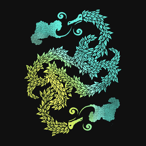 Yin Yang T-Shirt with Artistic Chinese Dragon Art | Asian art inspired artistic graphic tee for women, men, and kids.