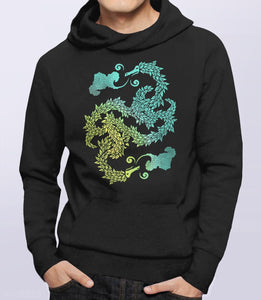 Dragons Blow, Black Unisex Hoodie by BootsTees