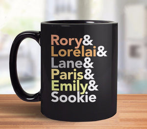 Gilmore Girls gift coffee mug with female character names